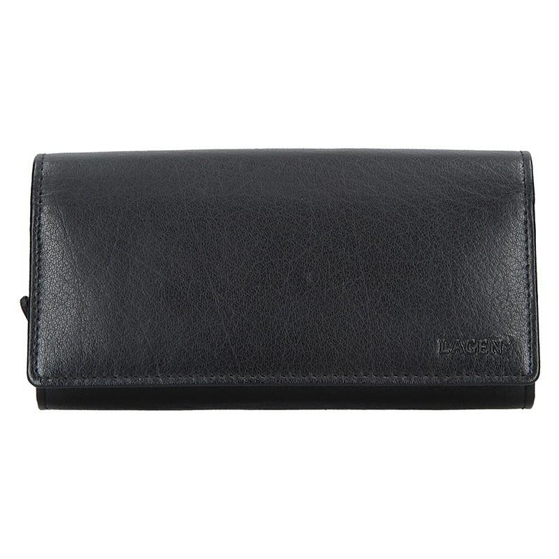 Čašnícka kožená peňaženka Lagen Menolo - čierna