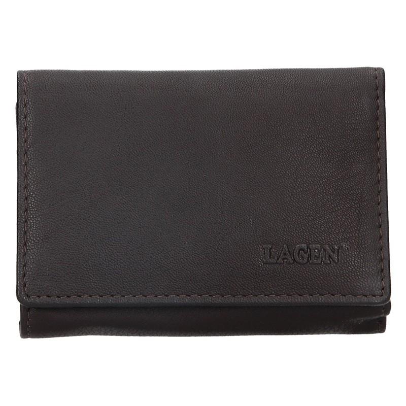 Dámska kožená peňaženka Lagen Leonas - hnedá