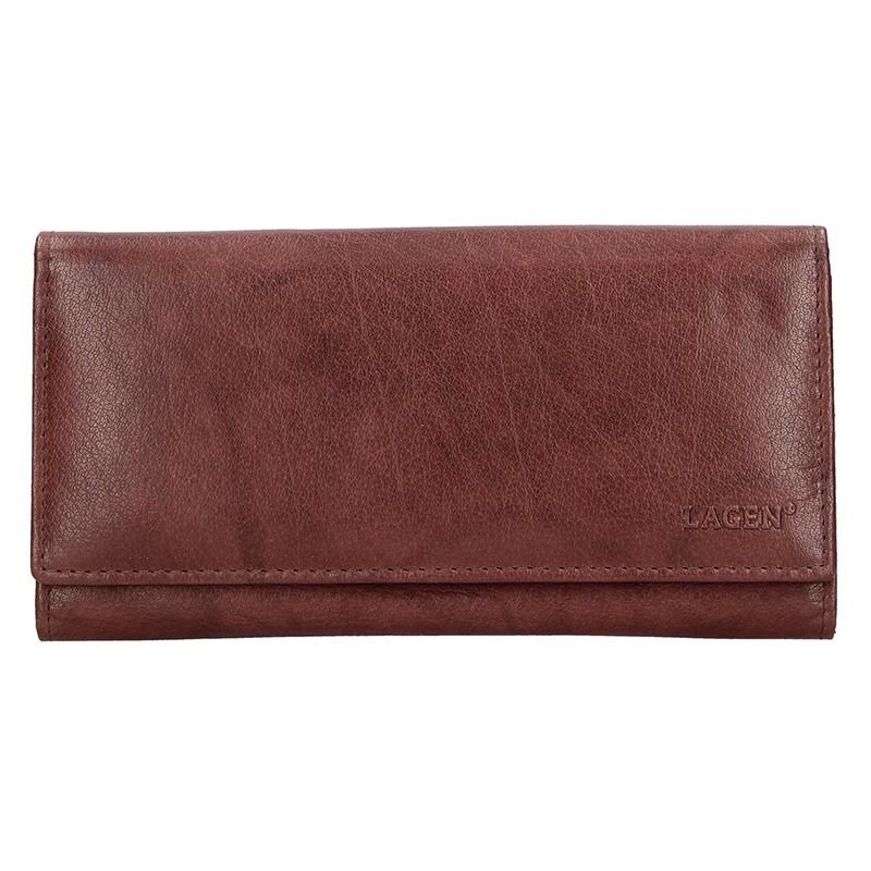 Dámska kožená peňaženka Lagen Zinna - hnedá
