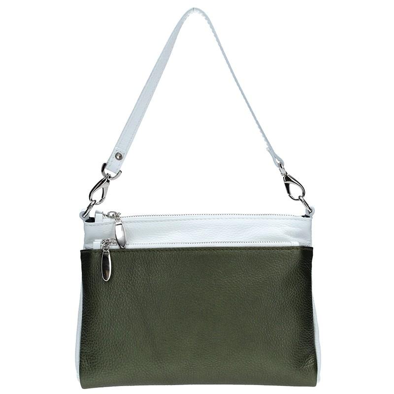 Dámska kožená kabelka Facebag Lincoln - šedá