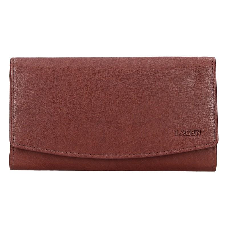 Dámska kožená peňaženka Lagen Ninnas - hnedá