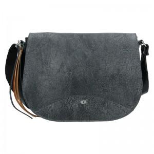 Luxusné dámske kožené crossbody Daag Violett - čierna