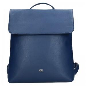 Dámsky kožený batoh Daag Mikaela - modrá