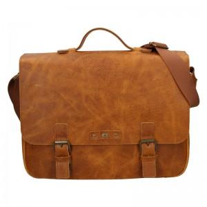 Pánska kožená taška Daag Woody - svetlo hnedá