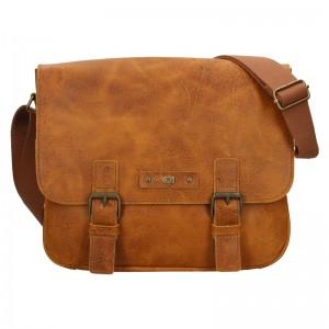 Pánska kožená taška Daag Elianto - svetlo hnedá
