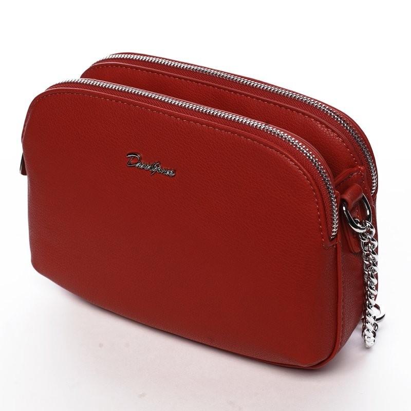 Dámska crossbody kabelka David Jones Audrena - červená