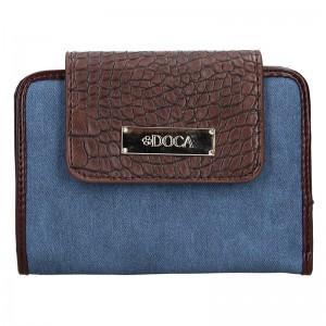 Dámska peňaženka Doca 64916 - modro-hnedá