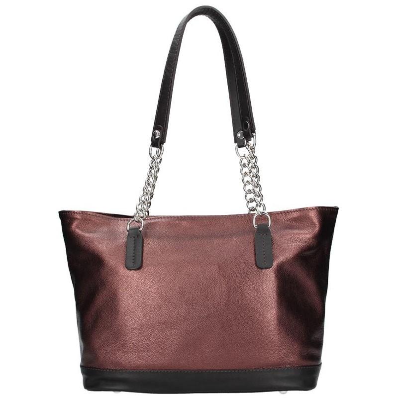 Dámska kožená kabelka Facebag Marika - vínová