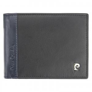 Pánska kožená peňaženka Pierre Cardin Viléms - modro-čierná