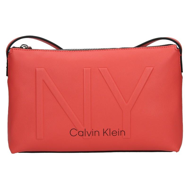 Dámska crossbody kabelka Calvin Klein Petrona - koral