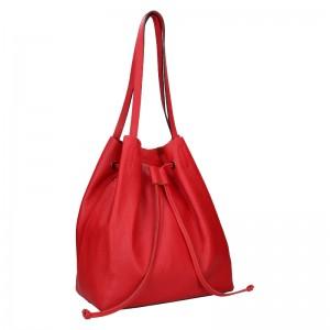 Dámska kožená kabelka Unidax Centa - červená