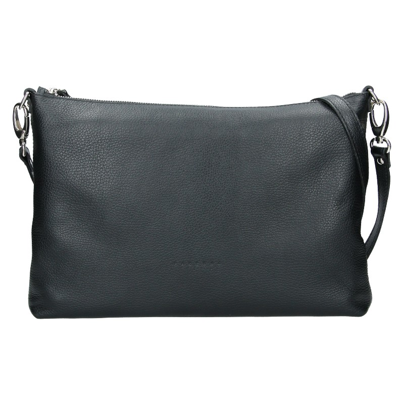 Trendy dámska kožená crossbody kabelka Facebag Elesn - čierna
