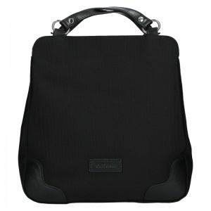 Dámska kožená batôžky kabelka Katana Martina - čierna