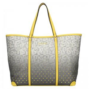 Dámska kabelka Sisley Radka - šedo-ružová