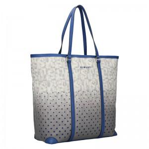 Dámska kabelka Sisley Brenda - šedo-biela