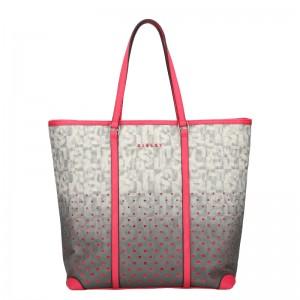 Dámska kabelka Sisley Brenda - šedo-ružová