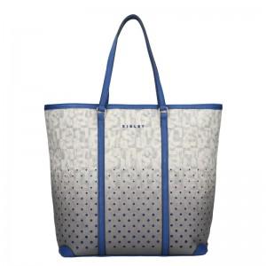 Dámska kabelka Sisley Brenda - šedo-modrá