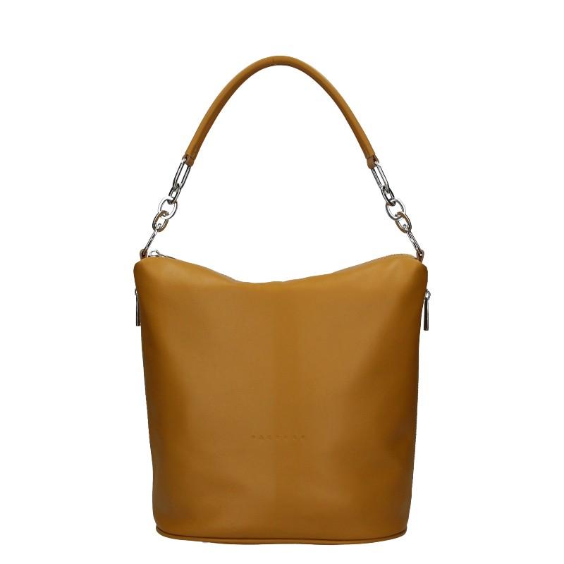Dámska kožená kabelka Facebag Talma - svetlo hnedá.