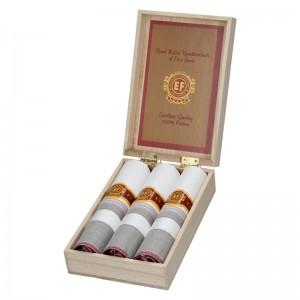 Pánske vreckovky v luxusnej sade ETEX Gelen - bielo - fialová