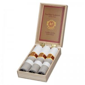 Pánske vreckovky v luxusnej sade ETEX Gelen - bielo - šedá
