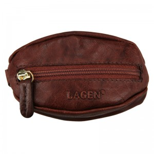 Dámska kľúčenka Lagen Gábinna - tmavo hnedá