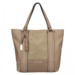 Dámska kabelka Sisley Monica - hnedá
