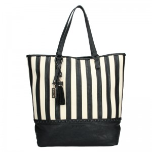 Dámska kabelka Sisley Wanda - čierno-biela