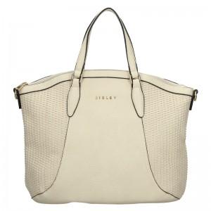 Dámska kabelka Sisley Narras - krémová