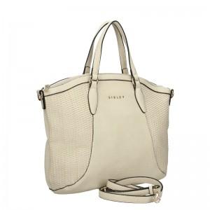 Dámska kabelka Sisley Narras - hnedá