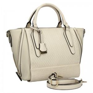 Dámska kabelka Sisley Lenka - krémová