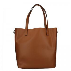 Dámska kožená kabelka Unidax Ninna - hnedá