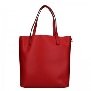 Dámska kožená kabelka Unidax Ninna - červená