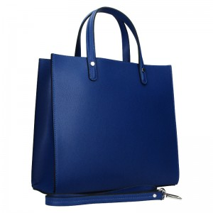 Dámska kožená kabelka Unidax Monarch - modrá