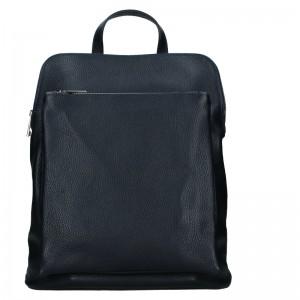 Kožený dámsky batoh Unidax Marion - tmavo modrá
