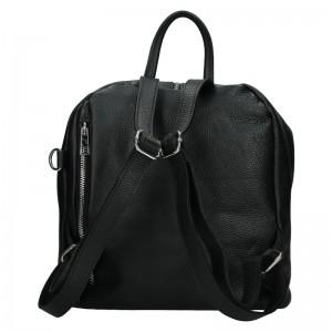 Kožený dámsky batoh Unidax Marion - čierna