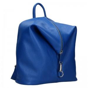 Kožený dámsky batoh Unidax Marion - modrá