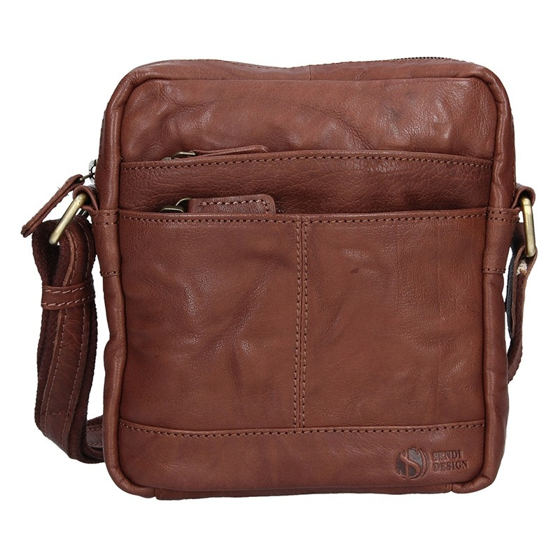 Pánska kožená taška na doklady SendiDesign Daniele - tmavo hnedá
