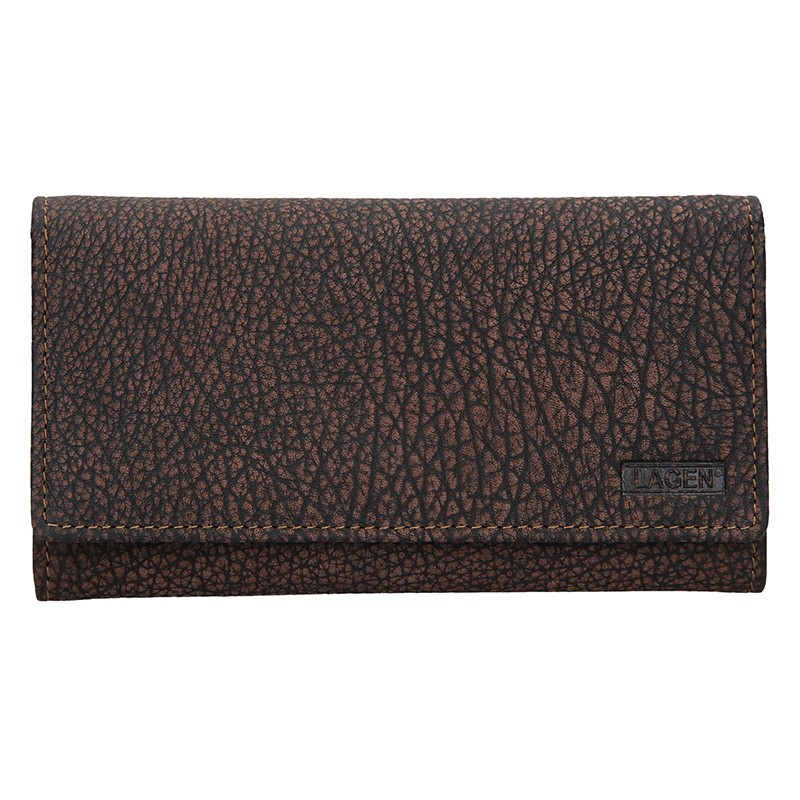 Dámska kožená peňaženka Lagen Lussy - hnedá