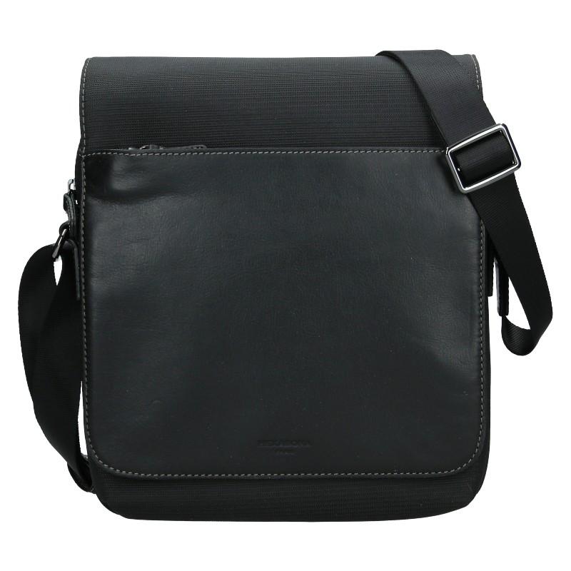 Pánská taška přes rameno Hexagona Denn - čierna