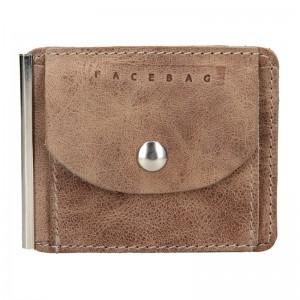 Pánska kožená dolarovka Facebag - hnedá