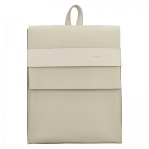 Dámsky kožený batoh Facebag Apolens - béžová