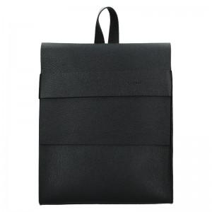 Dámsky kožený batoh Facebag Apolens - čierna
