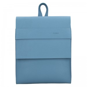 Dámsky kožený batoh Facebag Apolens - svetlo modrá