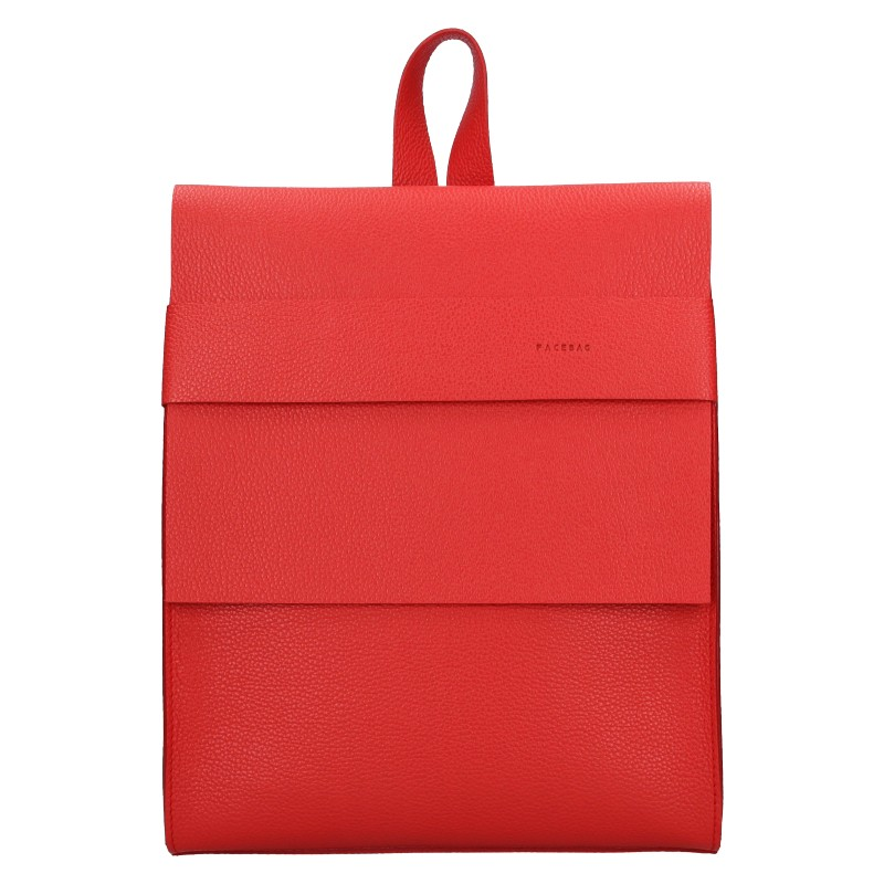 Dámsky kožený batoh Facebag Apolens - červená