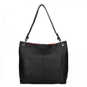 Dámska kožená kabelka Facebag Lilles - čierna
