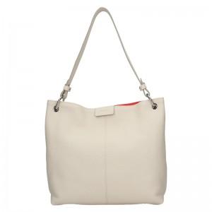 Dámska kožená kabelka Facebag Lilles - béžová
