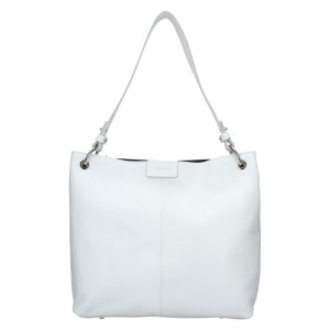 Dámska kožená kabelka Facebag Lilles - biela