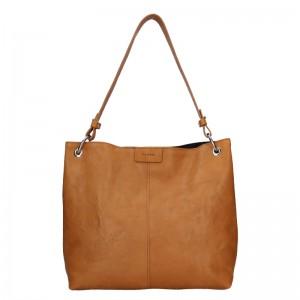 Dámska kožená kabelka Facebag Lilles - hnedá