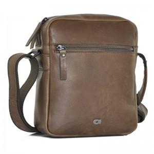 Pánská kožená taška Daag Peter - tmavo hnedá