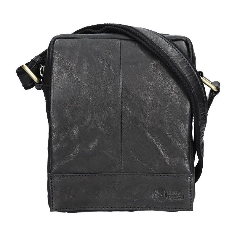 Pánska kožená taška cez rameno SendiDesign Eduardo - čierna